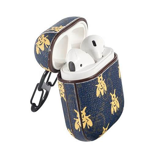 GUCCI DARK BLUE BUTTERFLY SHOCKPROOF AIRPODS CASE