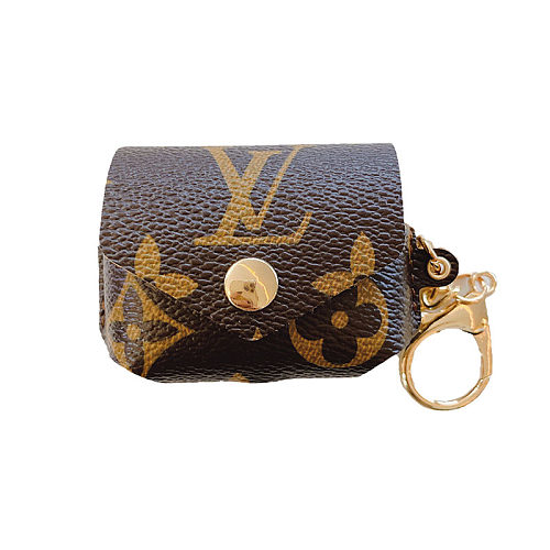 LOUIS VUITTON LV AIRPODS PRO LEATHER CASE WITH KEYCHAIN