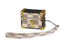 LOUIS VUITTON LV TRUNK AIRPODS PRO LEATHER CASE WITH LANYARD