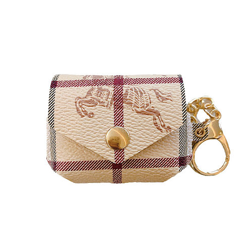 BURBERRY AIRPODS PRO LEATHER CASE WITH KEYCHAIN
