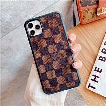 LOUIS VUITTON LV INSPIRED PU LEATHER PHONE CASE FOR IPHONE 12 PRO MAX 11 PRO MAX XS MAX XR XS 7 8 PLUS