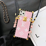 LOUIS VUITTON LV SOFT TUP LEATHER PHONE CASE WITH LANYARD FOR IPHONE 12 11 PRO MAX XS MAX XR XS 7 8 PLUS SE2