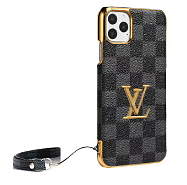 LOUIS VUITTON LV LEATHER PHONE CASE WITH LANYARD FOR IPHONE 12 11 PRO MAX XS MAX XR XS 7 8 PLUS SE2