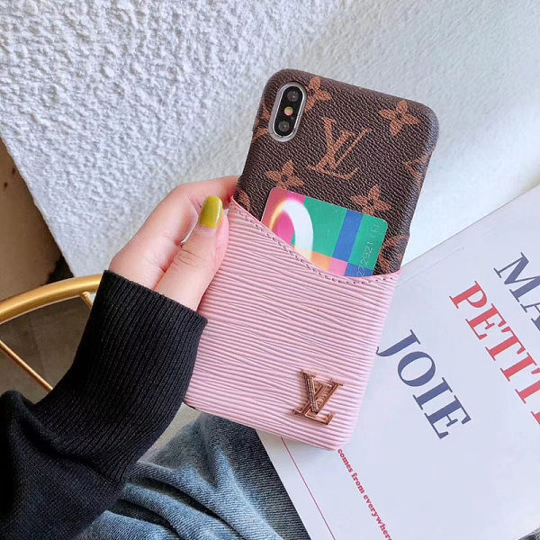 LOUIS VUITTON LV SOFT PU LEATHER PHONE CASE FOR IPHONE 11 PRO MAX XS MAX XR XS 7 8 PLUS SE2 WITH CARD SLOT
