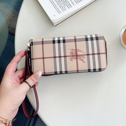 BURBERRY CROSS BODY LEATHER WALLET UNIVERSAL PHONE CASE FOR IPHONE SAMSUNG HUAWEI WITH LANYARD