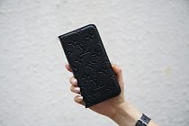 LOUIS VUITTON LV BLACK LEATHER WALLET PHONE CASE FOR IPHONE 12 11 PRO MAX XS MAX XR XS 7 8 PLUS SE2 WITH CARD SLOTS