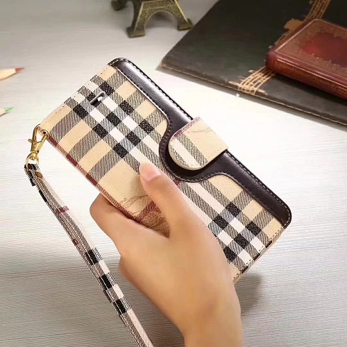 BURBERRY LEATHER WALLET PHONE CASE FOR IPHONE 11 PRO MAX XS MAX XR XS 7 8 PLUS SE2 WITH CARD SLOTS