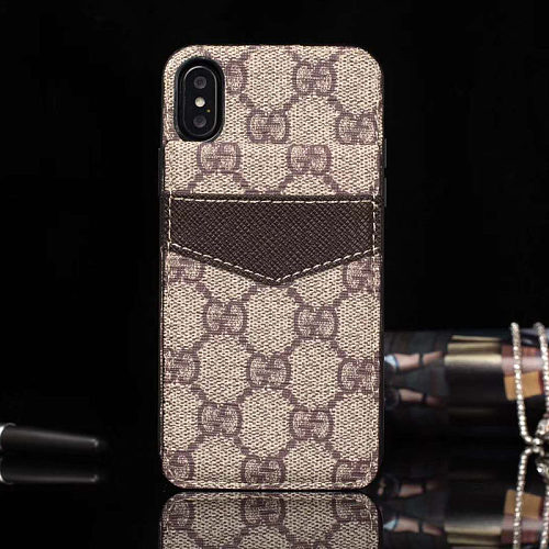 GUCCI LEATHER FOLDED WALLET PHONE CASE FOR IPHONE 11 PRO MAX XS MAX XR XS 7 8 PLUS SE2 WITH CARD SLOT