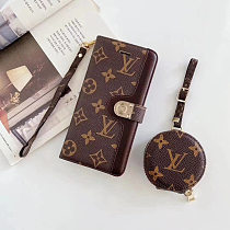 UNIVERSAL AIRPODS CASE SET LOUIS VUITTON LV LEATHER WALLET PHONE CASE FOR IPHONE 11 PRO MAX XS MAX XR XS 7 8 PLUS SE2 WITH CARD SLOT