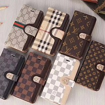 LOUIS VUITTON LV LEATHER WALLET PHONE CASE FOR IPHONE 11 PRO MAX XS MAX XR XS 7 8 PLUS SE2 WITH CARD SLOTS