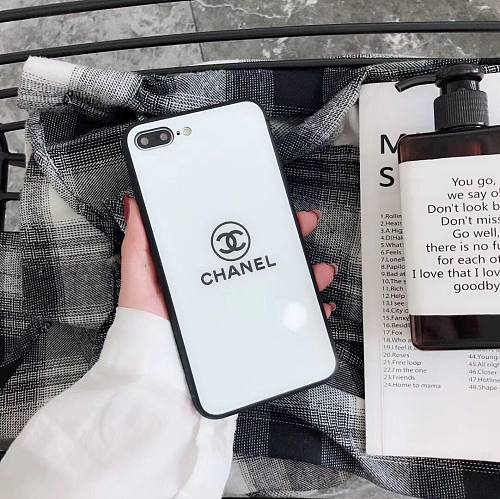 CHANEL TEMP GLASS PHONE CASE COVER IPHONE MODELS