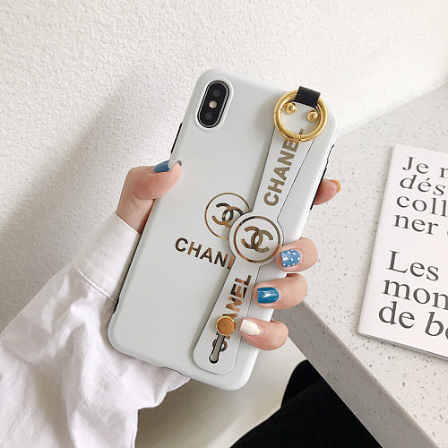 CHANEL PHONE CASE COVER WITH STRAP IPHONE MODELS