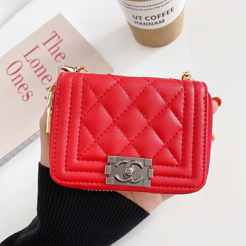 CHANEL AIRPODS 1/2/PRO CASE BAG UNIVERSAL WITH CHAINS