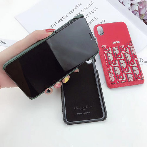 DIOR Embroidery PHONE CASE IPHONE MODELS WITH CARD HOLDER