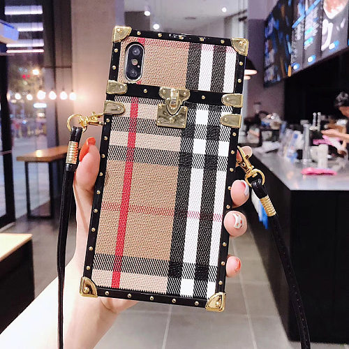 BURBERRY TRUNK PHONE CASE COVER IPHONE MODELS WITH LANYARD