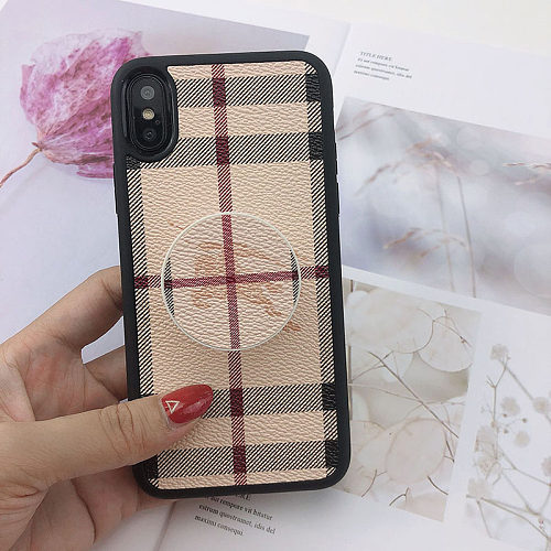 BURBERRY PHONE CASE COVER IPHONE MODELS WITH POP SOCKET