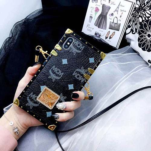 MCM TRUNK PHONE CASE COVER IPHONE MODELS WITH LANYARD