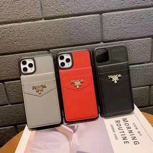 PRADA WALLET PHONE CASE COVER FOR IPHONE 12 11 PRO MAX MINI XS MAX XR 7 8 PLUS WITH CARD HOLDER SLOTS/ PHONE CASE ONLY