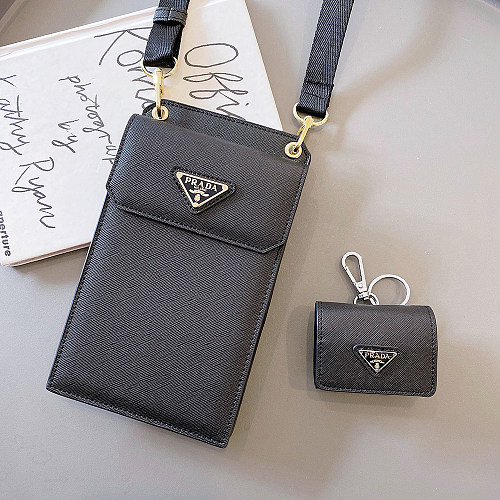 PRADA AIRPODS 1/2/PRO CASE COVER BLACK /AIRPODS CASE ONLY!!!