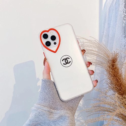 CHANEL SOFT TUP CLEAR PHONE CASE FOR IPHONE 7 8 PLUS XS XR XS MAX 11 12 PRO MAX TRANSPARENT RED HEART LOGO
