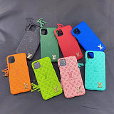 LOUIS VUITTON LV  IPHONE CASE COVER 12 11 PRO MAX  XS MAX XR 7 8 PLUS GOLDEN LOGO PINK GREEN BLACK BLUE RED