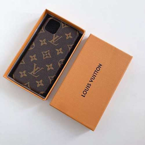 LOUIS VUITTON LV  IPHONE CASE COVER 12 11 PRO MAX  XS MAX XR 7 8 PLUS  BLACK BROWN RED