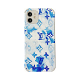 Louis Vuitton LV IPhone Case for iphone 7 8 plus XS XR MAX 11 12 PRO MAX Soft Leather Graffiti Pattern