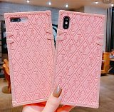 YSL Yves Saint Laurent Trunk iPhone Case 7 8 Plus Xs XR Max 11 12 Pro Max Pink Soft Tpu