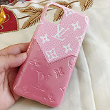 Louis Vuitton iPhone 12 Pro Max lv Case For iphone 7 8 Plus XS XR MAX 11 PRO MAX Card Slot Wallet Phone Case Pink