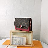 M67405 Louis Vuitton Cruise Flore Chain Wallet Red