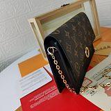 M67405 Louis Vuitton Cruise Flore Chain Wallet Black