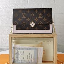 M67405 Louis Vuitton Cruise Flore Chain Wallet Pink