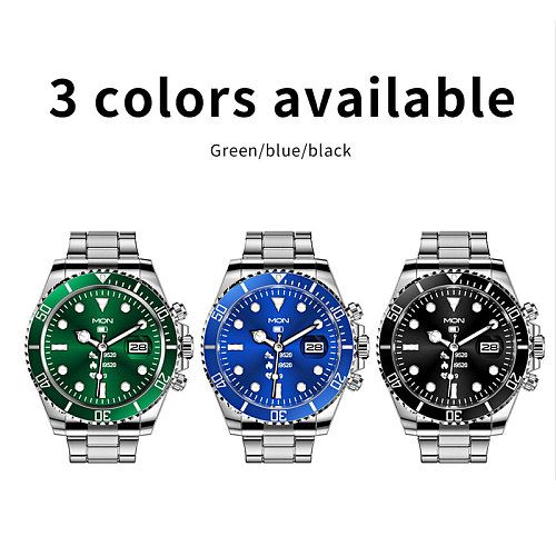 AW12 Smart Watches Inspired By Rolex Submariner IP67 WaterProof Green Blue Black