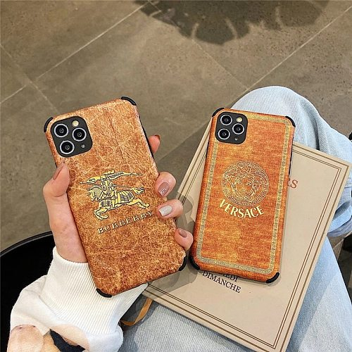 Brands Pattern Fashion Designers Phone Cases For iPhone 11 12 Pro XS Max XR 7+ 8+ Plus