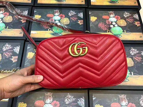 Cheap GUCCI Purse Bag Small Size 21*7*13 cm L1733-60 Multi Colors Without Box