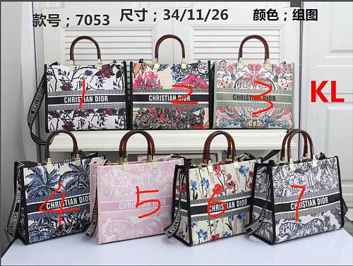 Cheap Dior Purse Shopping Bag 7053#75 Multi Colors Without Box