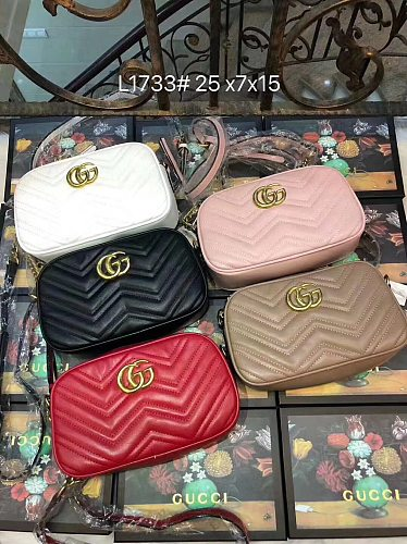 Cheap GUCCI Purse Bag Big Size 25*7*15 cm L1733-65 Multi Colors Without Box