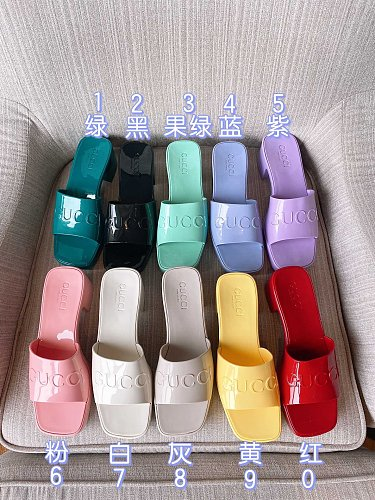 Attractive Womens Slipper Summer Sandals Scuffs Jelly Slippers Sandals Candy Slides High Heels Talons Hauts Ladies Sexy Black Comfort Shoes