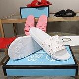 2021 Summer luxury g Sandals Designer women Flip flops Slipper Fashion Genuine Leather slides Metal Chain Ladies Casual shoes