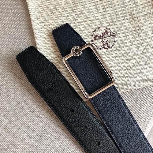 101757-78-260 Hermes Leather Belts OSCAR BELT BUCKLE 38MM
