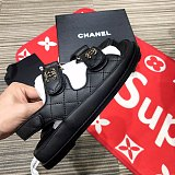 Designer Women Sandals Crystal Calf leather Classic quilted Platform Fashion Casual Shoes Summer Beach Womens Slides slipper size 35-40 With box