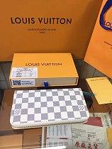 LV Long Zipper Wallets 60017-18-50 Brown Black White Cherkered  Monogram With Box