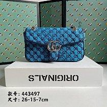 GG Designer Shoulder Bag 443497-80-230 Wine Red Green Blue
