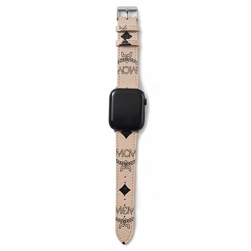 MCM Leather Apple Watch Bands 38/40mm 42/44mm
