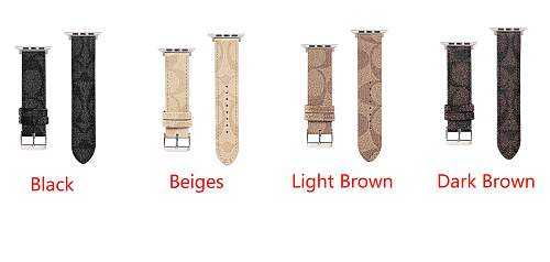 COACH Leather Apple Watch Bands 38/40mm 42/44mm