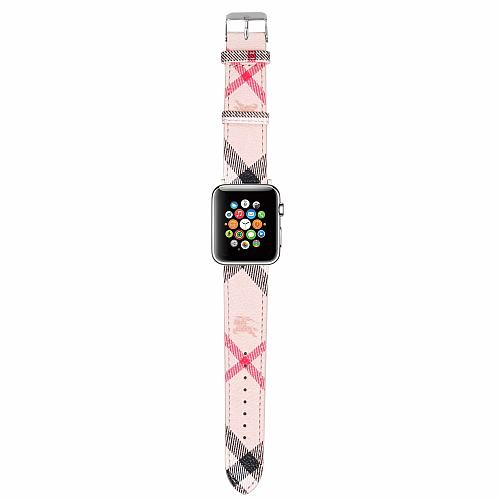 Burberry APPLE WATCH BAND 38/40MM 42/44MM LEATHER