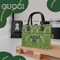 Green Gucci Hand Bags 3D Silicon AirPods Cases For Gen 1/2 Pro