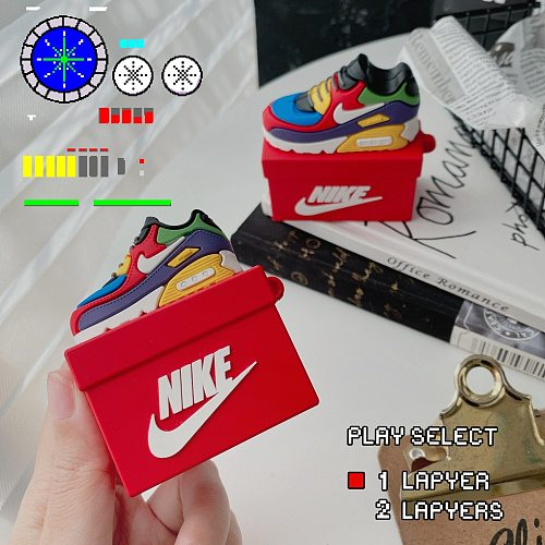 Nike Multi Colors Box 3D Silicon AirPods Cases For Gen 1/2 Pro