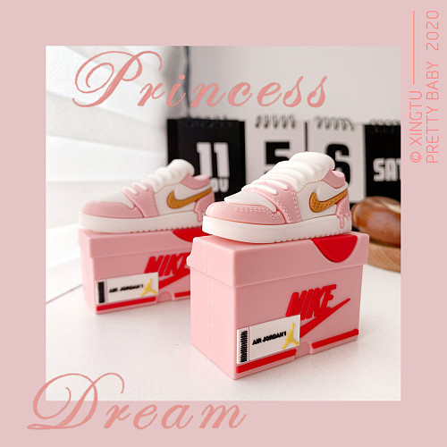 Pink Air Force 1 3D Silicon AirPods Cases For Gen 1/2 Pro