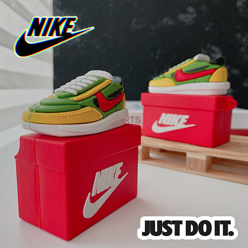 Just Do It Green Sneaker 3D Silicon AirPods Cases For Gen 1/2 Pro